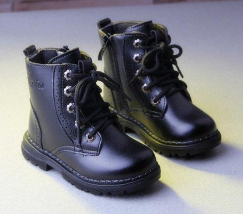 Ohmais Kinder Mädchen Junge Halbschuhe Stiefel und Stiefeletten klassische kleines Mädchen Schuh Schwarz Normal