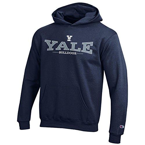Champion NCAA Youth Long Sleeve Fleece Hoodie Boy's Collegiate Sweatshirt Yale Bulldogs Large