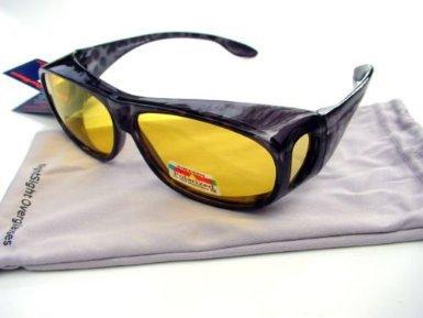 Opticaid Surlunettes à verres polarisants à porter par dessus vos lunettes correctrices pour conduite de nuit AEhDYoO