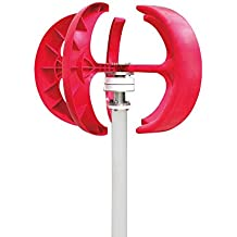 GADE10 Wind Turbine Generator,400W 12V Lanterns Wind Turbine Generator Vertical Axis Red 5 Blades+ Controller For Home Monitoring Boat Marine (Red)