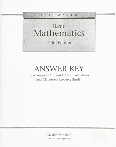 Basic Mathematics: Answer Key