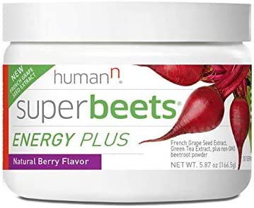 HumanN BeetElite Superfood Concentrated Beet Powder Nitric Oxide Boosting Athletic Endurance Supplement Black Cherry Flavor, 7.1-Ounce