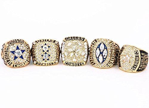 Dallas Cowboys Super Bowl 5 Ring Set 1971 Vi  1977 Xii  1992 Xxvii  1993 Xxviii  1995 Xxx  9