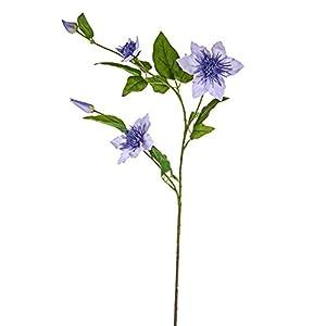 FloristryWarehouse Clematis Spray Artificial Silk 31 inches Lilac 33