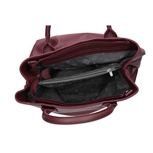 bandoulière 2 Sac sacoche VN2860 coffre femme OLEARI grand bordeaux NAJ avec anses qA5w7vtTtx