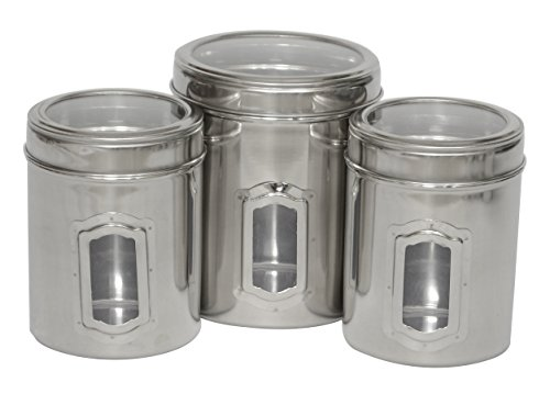 Iconic Pet Different Sizes of Canister with See Through Lids (Set of 3)
