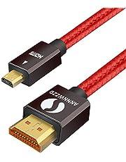 LinkinPerk - Cavo ad alta velocità per televisori HD, con connettore da Micro HDMI a HDMI, con supporto per Ethernet, 3D, 4K e ritorno audio