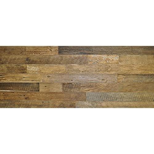 East coast rustic diy brown 3 5 sealed reclaimed wood wall covering 20 square feet do it yourself genuine barn wood