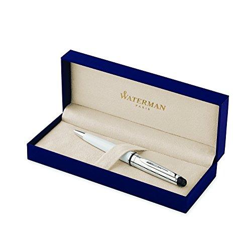 Waterman Expert Deluxe White, Ballpoint Pen with Medium Blue refill (S0952440)