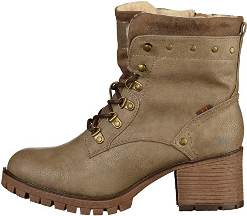 Schn taupe Mustang Botines r stiefelette Femme 318 Marron SF88Oqgwxd