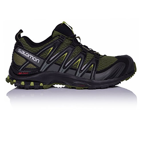 Mens Running Shoes Uk - SALOMON XA Pro 3D Trail Running Shoe - Men's Chive/Black/Beluga, US 13.0/UK 12.5