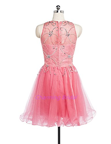 A Party Short coral Line Prom Dress 023 Beadings Formal Women's Charmingbridal 5wx4OXFX