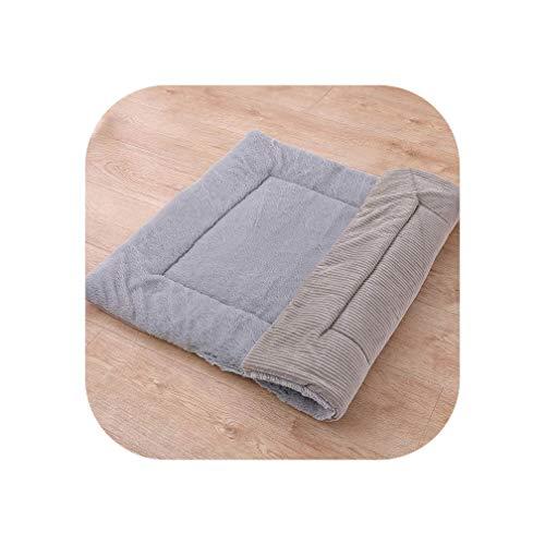Soft Dog Bed Car Seat Mat Cage Mattress for Small Medium Large Dog Puppy Blanket Warm Floor Pad Washable Pet Dog Lounger Cushion,Grey Corduroy,75x55CM