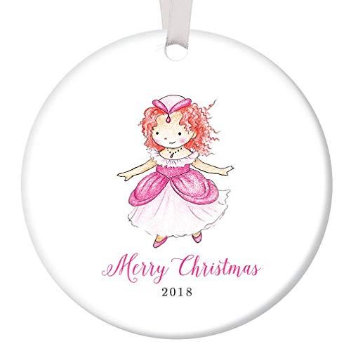 Merry Christmas Redhead Princess Ornament 2018 Daddy's Little Girl Ceramic Keepsake Cute Red Hair Daughter Grandchild Present Ginger Female Child 3