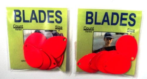 Colorado Blades - Size 4 - BLOR-4 - Count Varies By Color - 2 Packs - For Harnesses, Spinners, Jewelry, etc. (Orange BLOR-4)