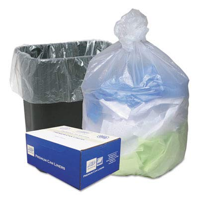 Webster WBIWHD2431 Ultra Plus High Density Resin Industrial Trash Can Liner, 16 gal, 24