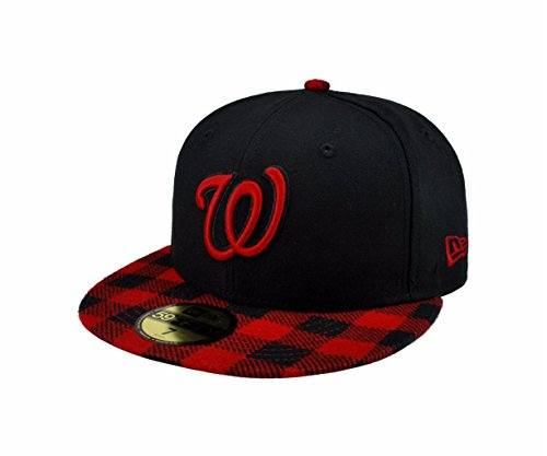 Amazon.com  New Era 59fifty MLB Washington Nationals Hat Premium Fitted  Black with Red Cap  Clothing 92c5d965bbe8