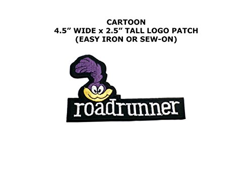 Road Runner Costume Looney Tunes (Looney Tunes Road Runner Embroidered Iron/Sew-on Comic Cartoon Theme Logo Patch/Applique)
