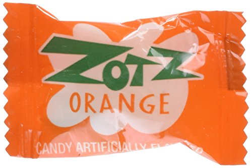 Zotz Fizzy Candy Orange Flavored 2lb 170 Pieces]()