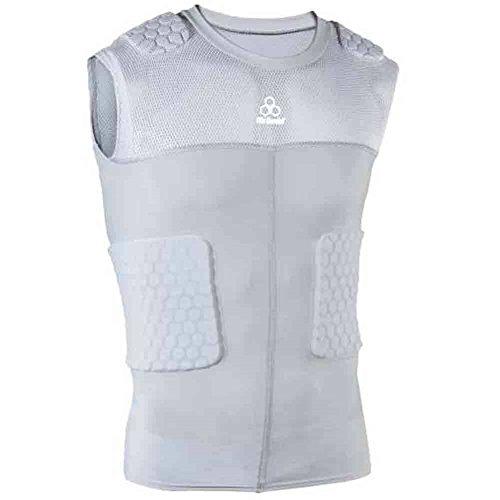 McDavid Classic Logo 7870 CL Hex Pad Mesh Sleeveless 5 Pad Body Shirt-Grey-XX Large