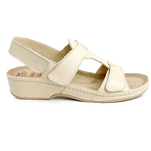 Sandals Womens Beige Leather Ladies Batz Ingrid Summer Backstrap Fw6xYgq