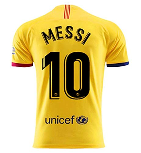 Egypt 10 Messi Jersey for Mens 2019-2020 Season Barcelona Messi Away Soccer Jersey Yellow