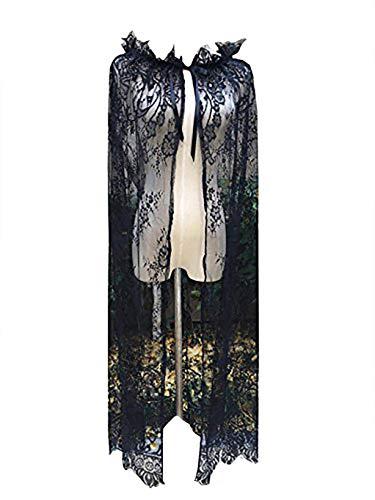 YuRongsxt Long Bridal Shawls Wrap Lace Applique Scarf Capes Lace Cover Up C04