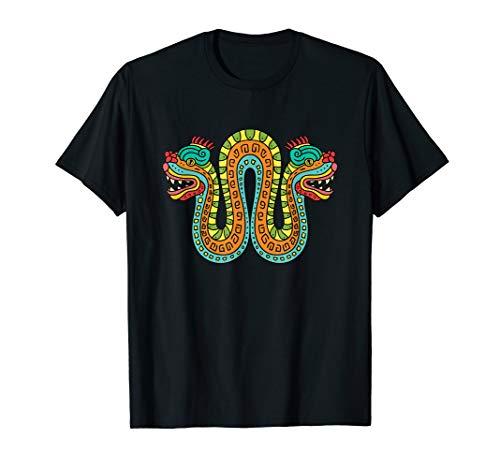 Double Headed Serpent - Aztec Snake T-Shirt ()