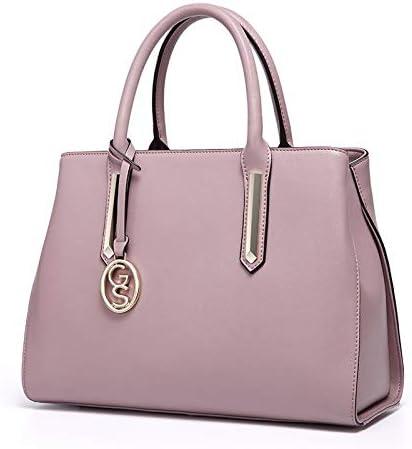 HEMFV 女性のための財布とハンドバッグファッションメッセンジャーバッグレディースPUレザートップハンドルサッチェルショルダートートバッグ (Color : Pink)