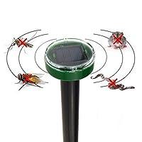 GlobalDeal Solar Power Ultrasonic Pest Repeller, Gopher Mole Snake Mouse Rodent Pest Repellent