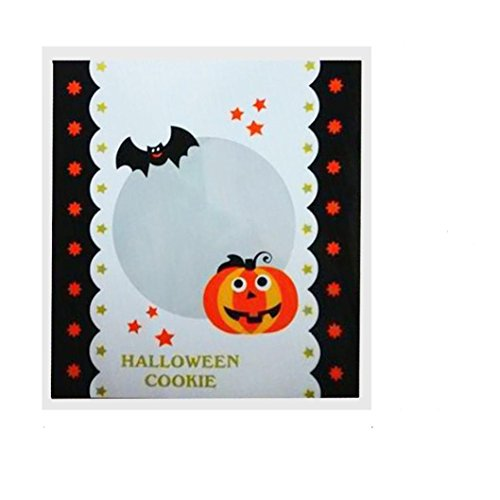 Candy Packets,VIASA 100 pcs Halloween Candy Bag Snack Packet Children Gift (B) (Cotton Candy Near Me)