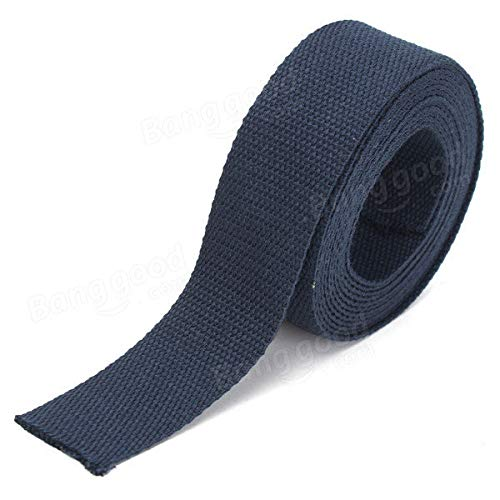 - 1 x Cotton Tape Tools /& Home Improvement EDC Gadgets - 38mmx3m Cotton Webbing Craft Strapping Tape -Five Color Black