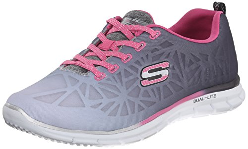 Skechers Sport Women's Zealous Fashion Sneaker, Black/Pink, 7 M US