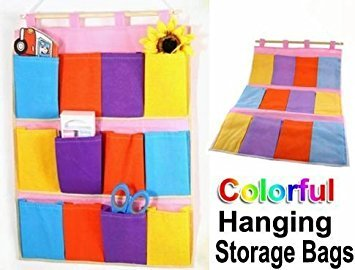 Colorful Hanging Storage Pockets
