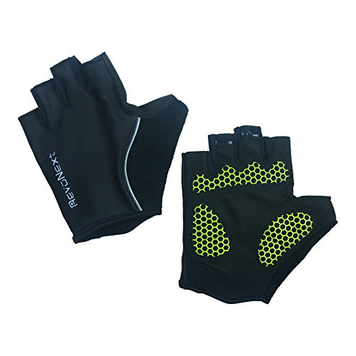 RevoNext Cycling Gloves - Bike Bicycle Motorcycle Shockproof Outdoor Sports Half Finger Absorbing Gel Pad Breathable Racing Short Gloves