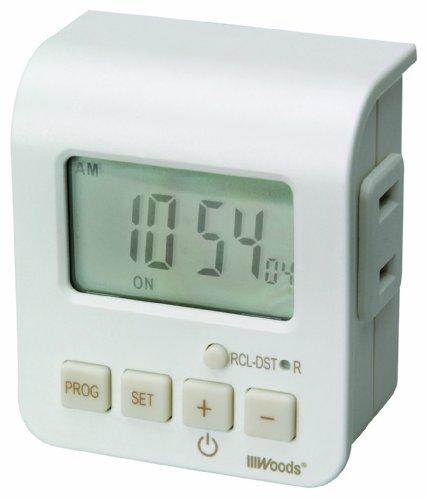Woods 50010 Indoor 24-Hour Digital Outlet Timer