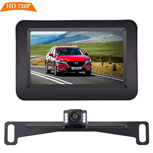 Yakry Backup Camera and Monitor Kit Wire Single Power Supply For Whole System Rear View/Constantly...