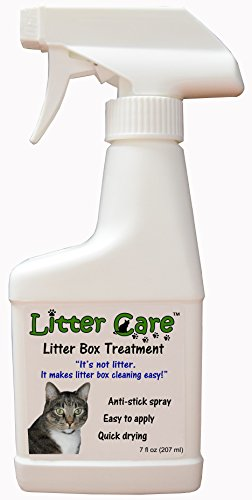 Litter Care - A Non-Stick Spray Coating for The Litter Box or pet Enclosure Cat Spray Litter Box