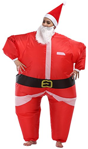 SASALO Unisex Adult Funny Inflatable Costume Halloween Fat Blow up Suit Party Outfit