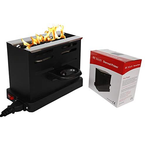 TUTUN Electric Coal Charcoal Starter Burner + Free Tongs! - Hookah, Shisha, Nargila, BBQ, Fire Starter