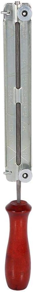 Alinory Kit de Lima de Motosierra, Kit de Afilado de motosierras, Duradero para Cadenas de(Wooden Handle+Bracket+File/5.5mm)