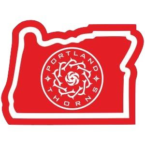 MLS Portland Thorns in Oregon Die-Cut, Vinyl, All-Weather, Waterproof, Super Adhesive, Outdoor & Indoor Use Sticker. Includes Free Bonus Sticker.