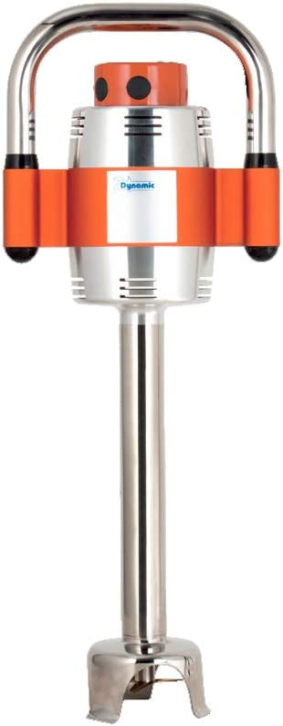 Dynamic Mixers SMX350ES Immersion Blender, orange, 4.5 inch diameter at bell (bottom of unit), 4.95 inch diameter at top, 24.36 inch high