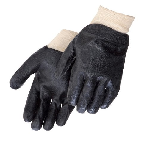 Liberty 2133 PVC Coated-Supported Glove with Semi-Rough Finish 12'' Gauntlet, Chemical Resistant, Black (Pack of 12)