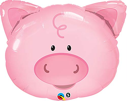 PIONEER BALLOON COMPANY 16202 Playful Pig Shape Balloon Pack, 30