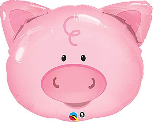 (PIONEER BALLOON COMPANY 16202 Playful Pig Shape Balloon Pack, 30