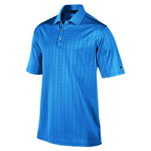 NIKE Men's Tiger Woods Collection Dri-FIT Drop-Needle Stripe Polo, Surf Blue, (Nike Dri Fit Drop Needle)
