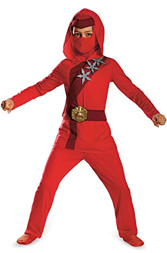 Mememall Fashion Red Fire Stealth Ninja Child Costume (Cheers And Beers Costume)
