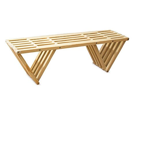GloDea Xquare X60 Wooden Backless Garden Bench