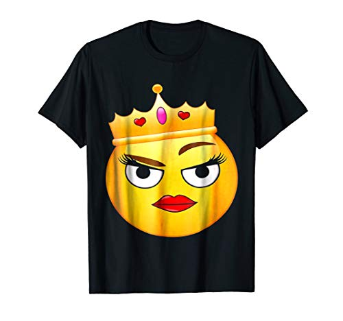 Cool And Sassy Funny Flirting Queen Emoji T-Shirt (Best Flirting Text Messages)